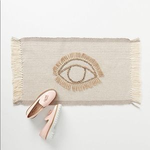 Anthropologie Aviva Doormat NWT $32 Fringed Trim
